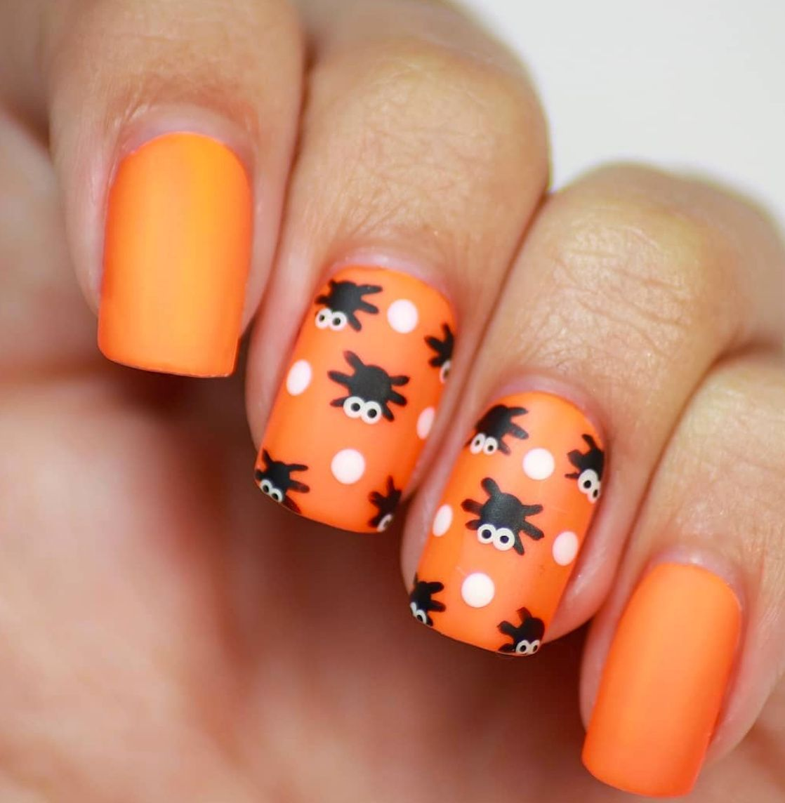 Nailed It These 35 Halloween Art Design Ideas Are Seriously Spellbinding In 2020 Halloween Nail Designs Nails For Kids Pumpkin Nails