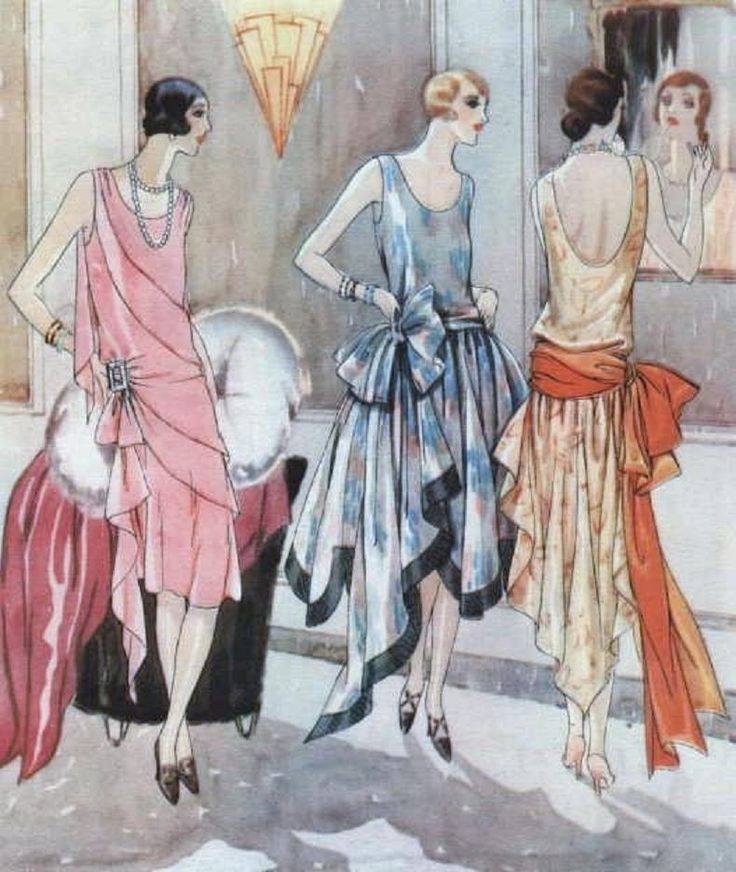Evolution Of Women S Fashion 1905 1930 Fashion Illustration Vintage Art Deco Fashion 1920s Fashion