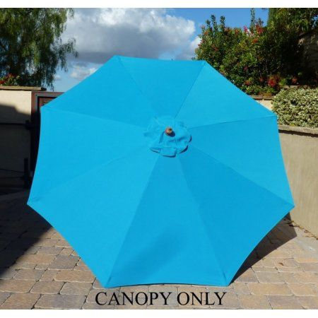Formosa Covers 9ft Umbrella Replacement Canopy 8 Ribs In Teal