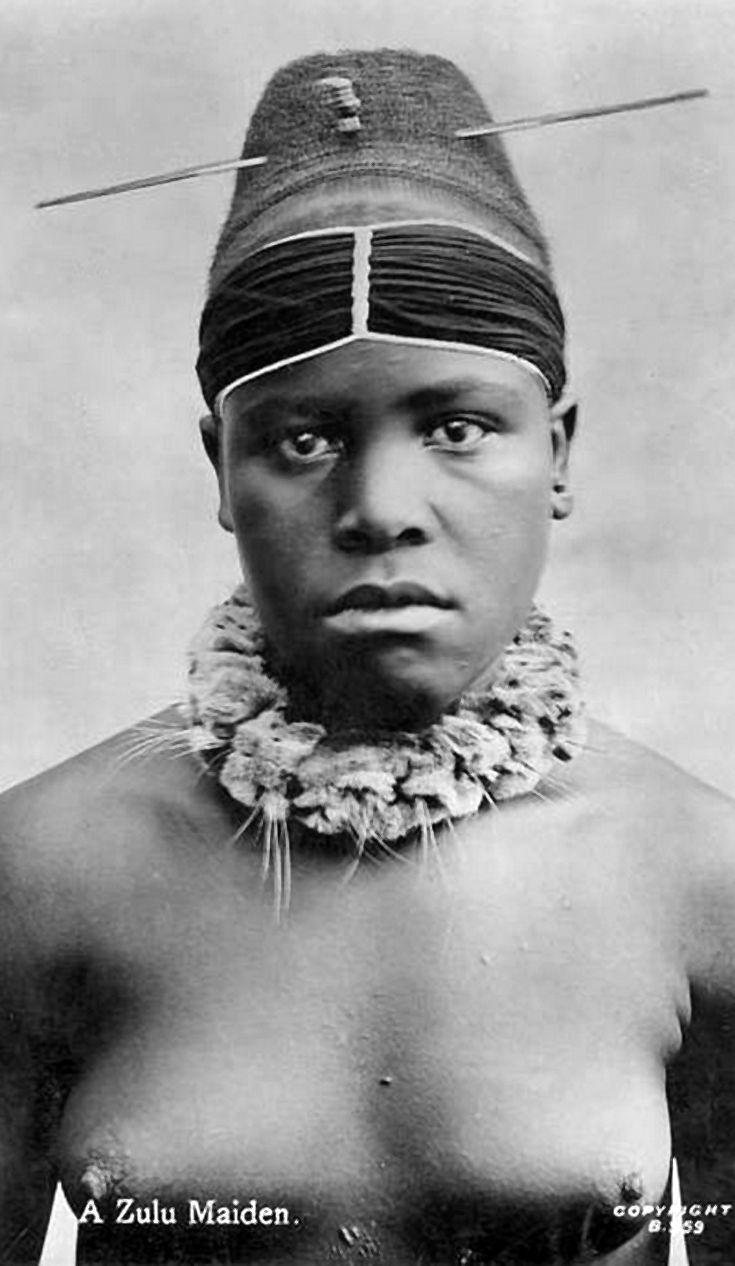 zulu woman ith a ceremonial hair made - south africa | black