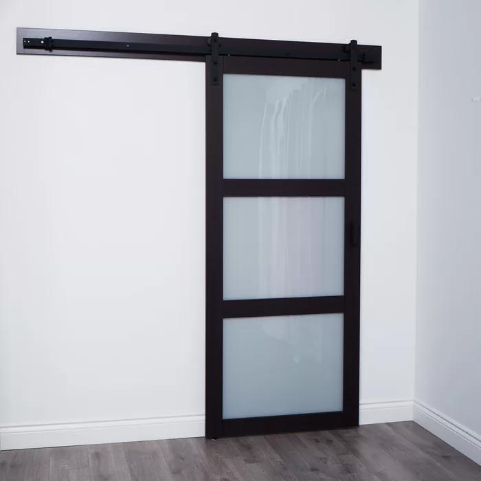 Continental Glass Barn Door With Installation Hardware Kit In 2020 Glass Barn Doors Glass Barn Doors Interior Interior Barn Doors