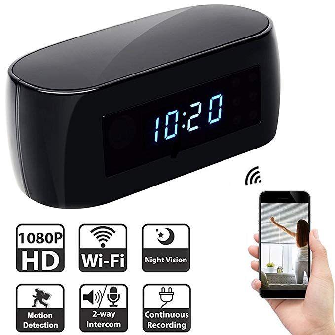 Wifi Hidden Camera Clock Cscam Spy Camera Alarm Clock 1080 Hd Hidden Camera Night Vision