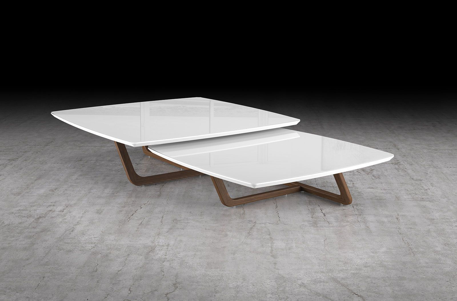 - Modloft Belvedere 2PC Nested Coffee Table Set Coffee Table