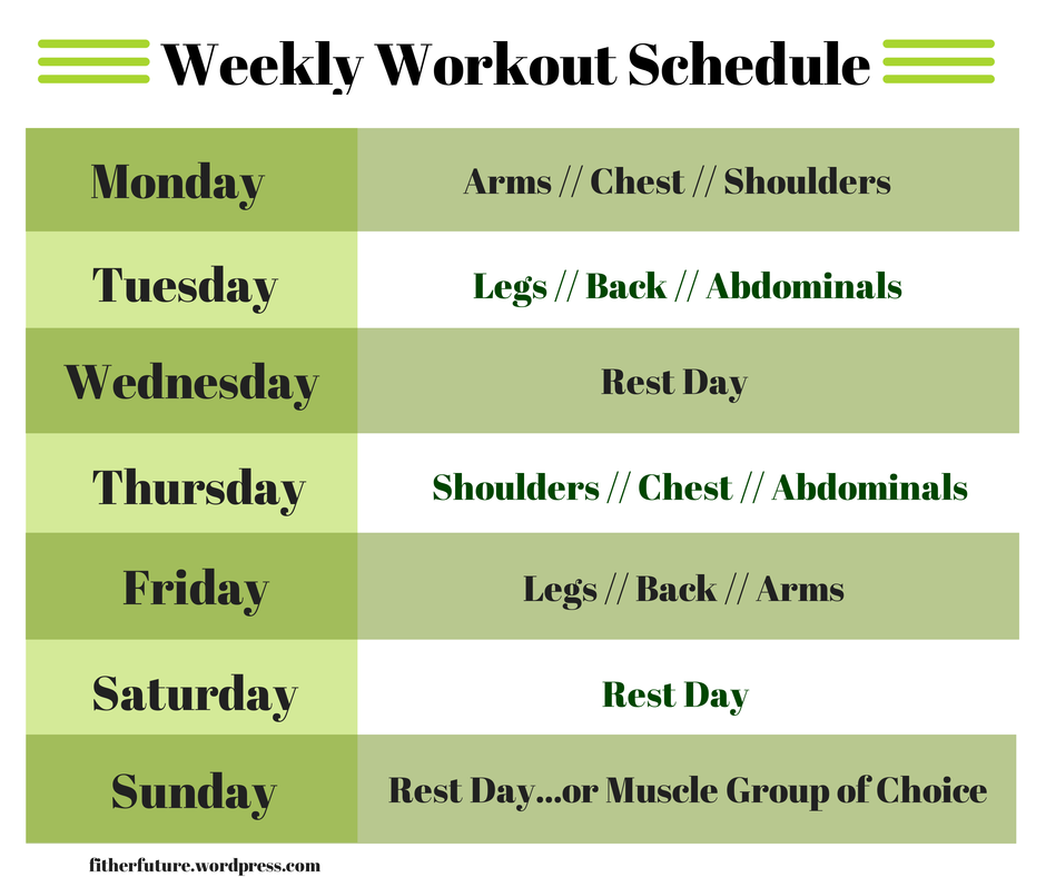 Weightlifting Why Every Woman Should Weekly Workout Schedule Gym Workout Schedule Weekly Workout
