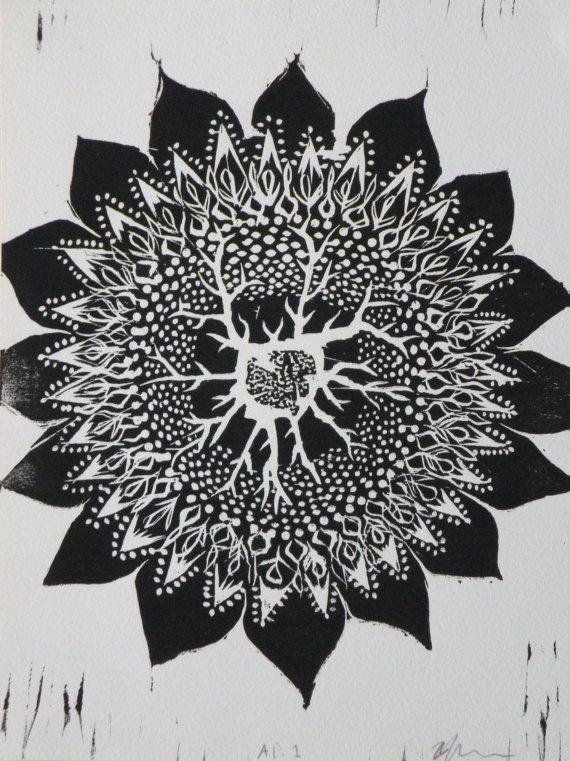 Lifesource Woodblock Print by FlourishingDecay on Etsy, $15.00