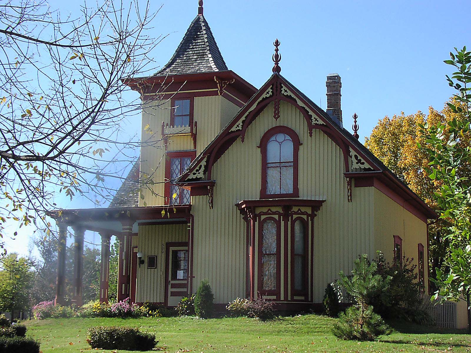 Mid 19th Century Gothic Revival Cox House St Peter Mn
