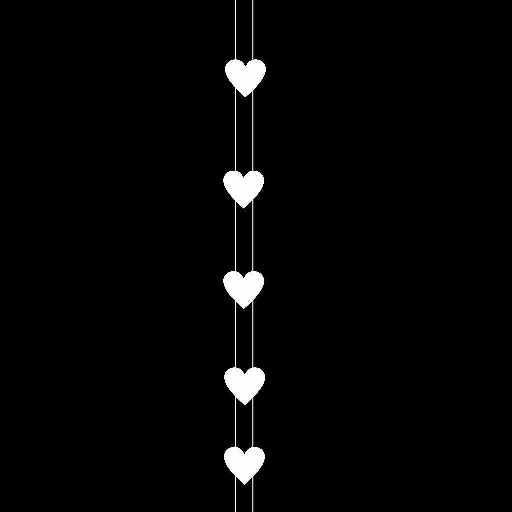 White Line Border Decorative Lines Heart Overlay Instagram Frame Template