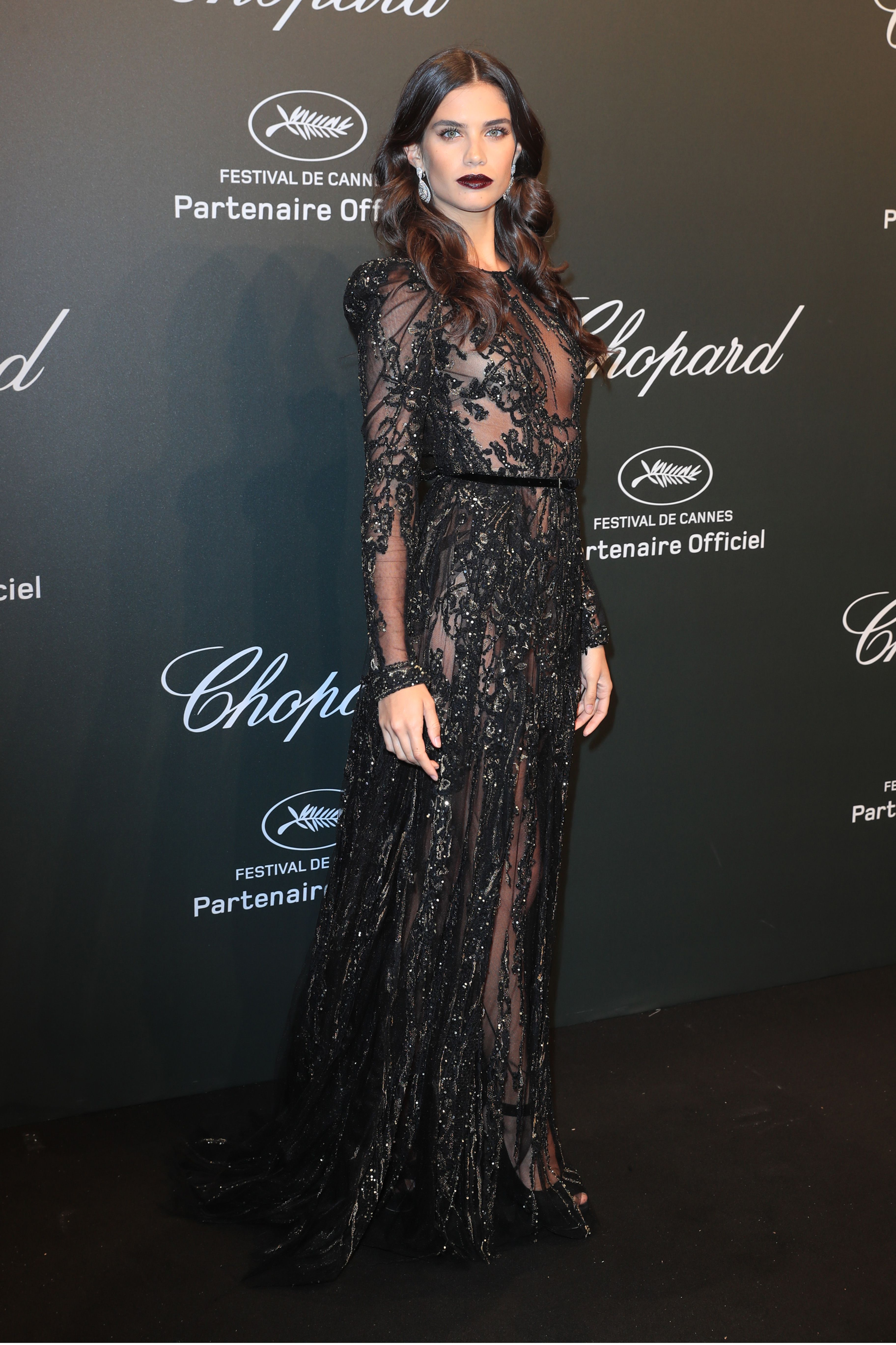 sara sampaio in elie saab haute couture at the chopard party during the th annual cannes