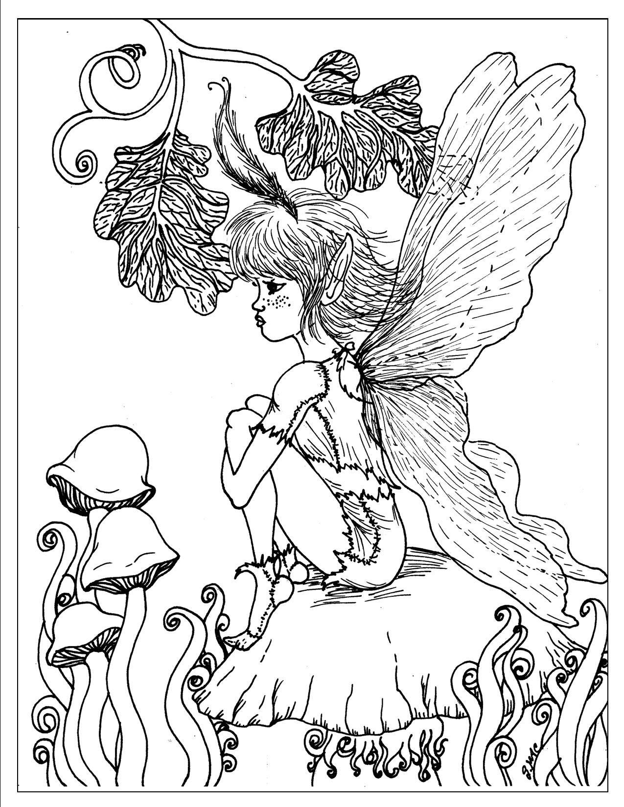 Fairy coloring page coloring pages pinterest fairy and adult