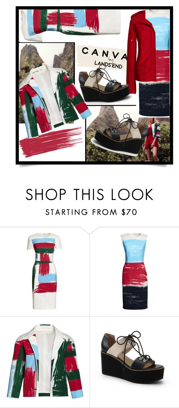 """""""Paint Your Look With Canvas by Lands' End: Contest Entry"""" by evakrole ❤ liked on Polyvore featuring Lands' End and Canvas by Lands' End"""
