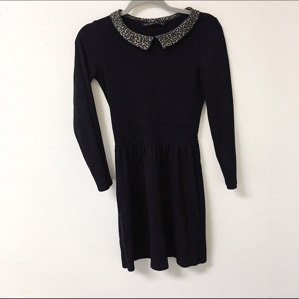 Zara peter pan collar dress products pinterest peter pan