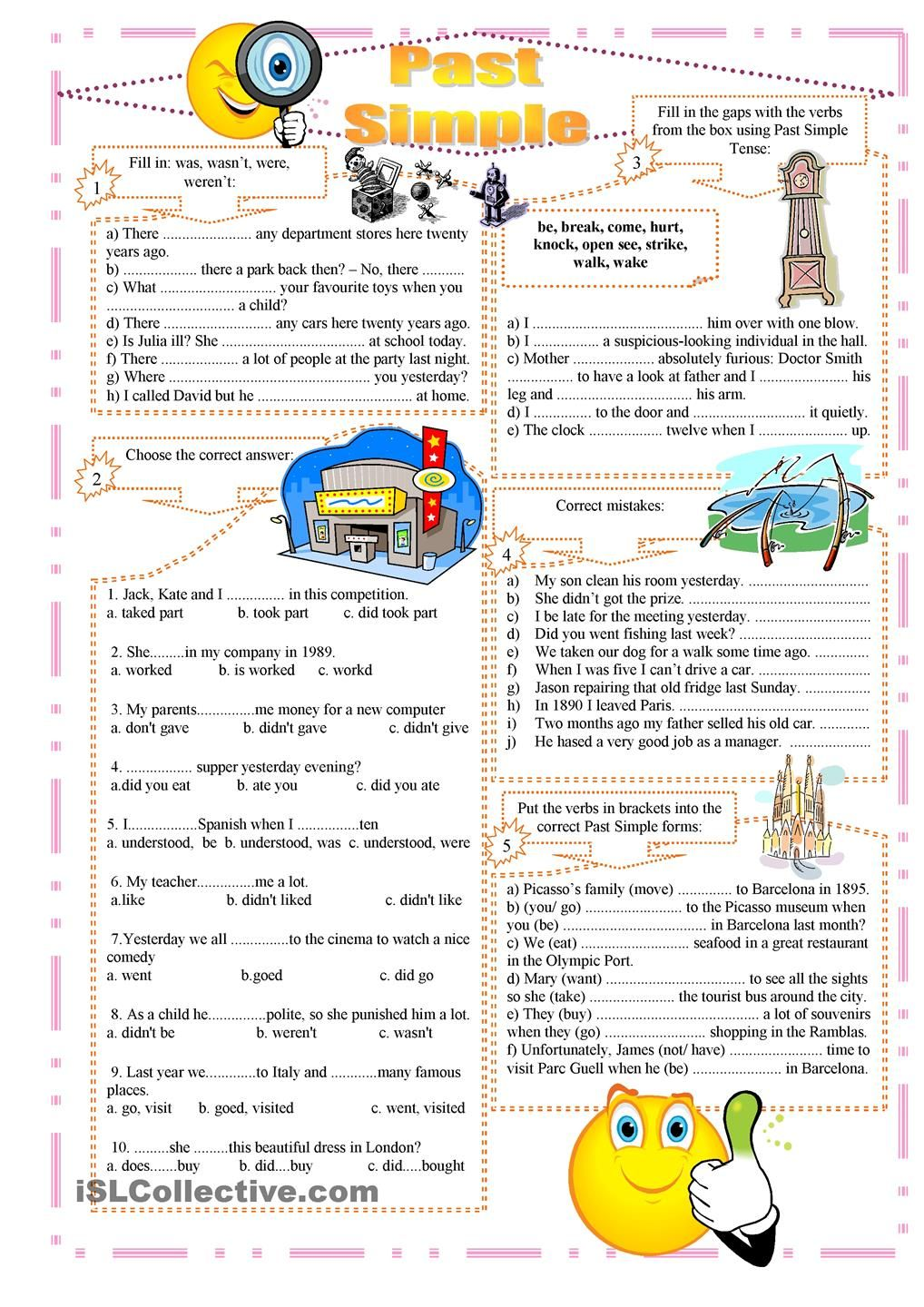Past Simple exercises … | english lessons | Pinte…