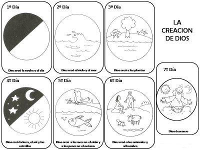 La Creacion de Dios para pintar ~ Dibujos para Colorear Infantil ...