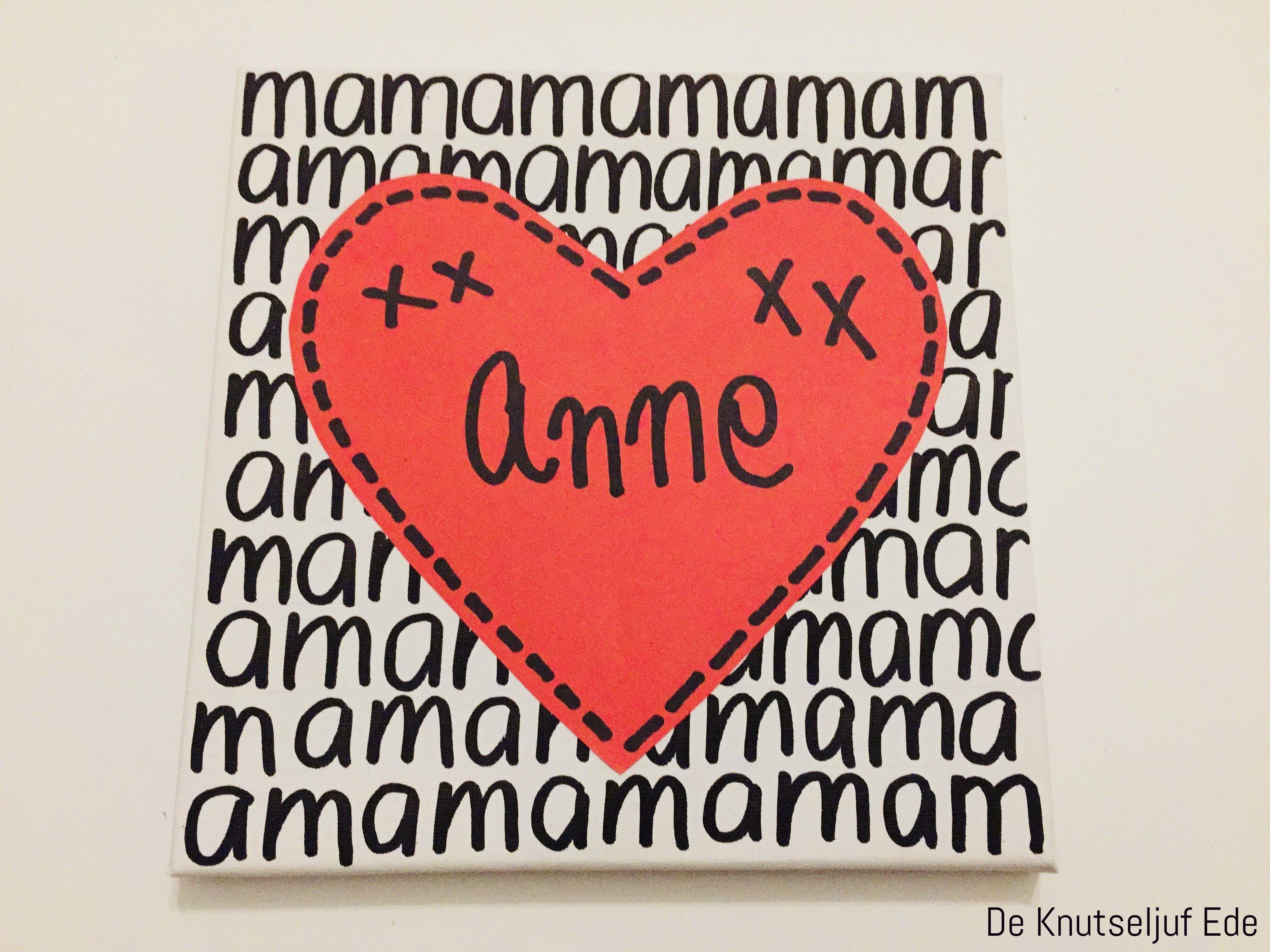 Voor Mama Kunst Schilderij Hart Voor Moederdag Moederdag Mama Kunst Schild Moederdag Knutselen Groep 4 Moederdag Kaarten Moederdag Knutselen 6de Leerjaar