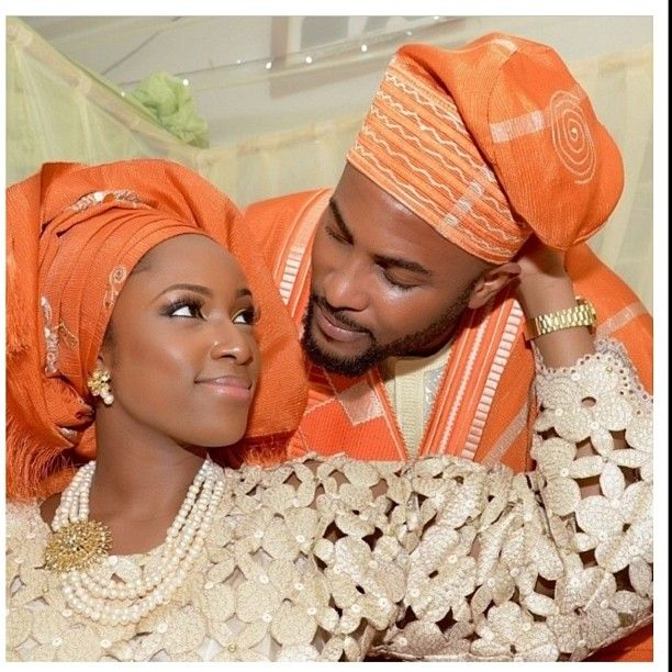 Adorable orange Nigerian wedding. Follow @ChiefWedsLolo.com - Nigerian Wedding…