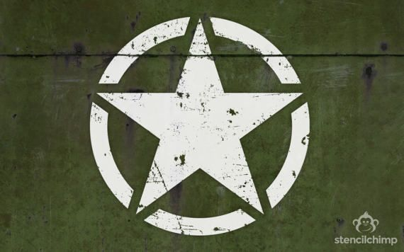 Jeep Willys Military Star Stencil Art Stencil Jeep Star Etsy