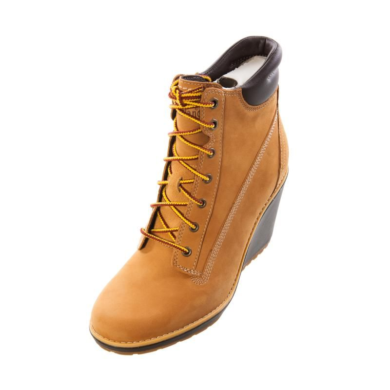 Timberland Womens Ladies 8445r Earthkeepers Meriden 6 Inch Wheat Wedge Boot 106 99 Boots Timberlands Women Timberlands Shoes
