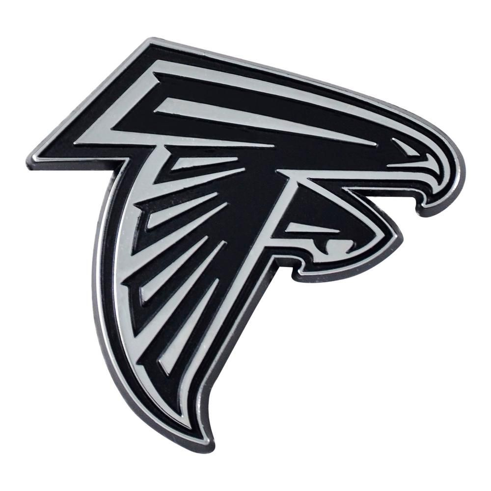 Fanmats Nfl Atlanta Falcons Chromed Metal 3d Emblem 15604 Arte Colores