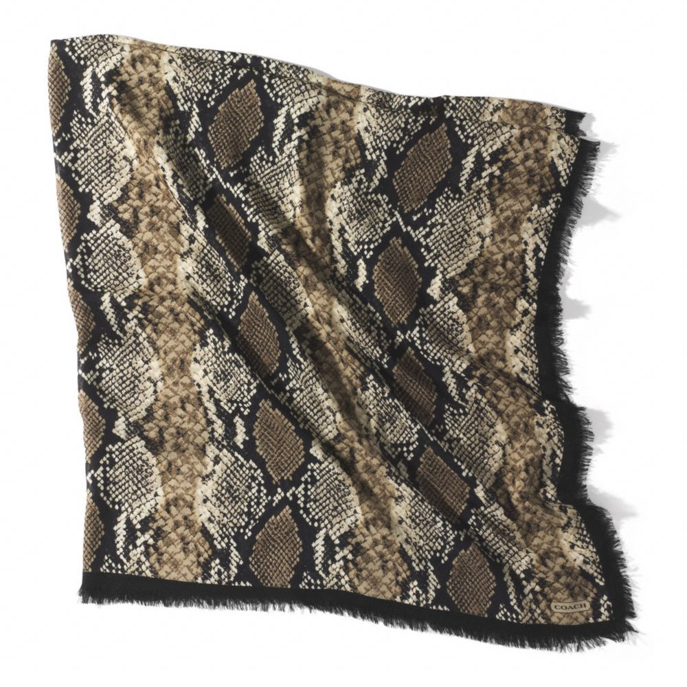 The Python Oversized Square Scarf from Coach