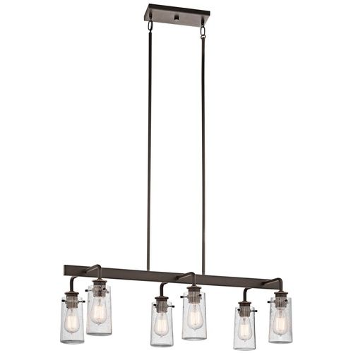 Kichler kk43059oz braelyn multi light pendant light olde bronze at ferguson com