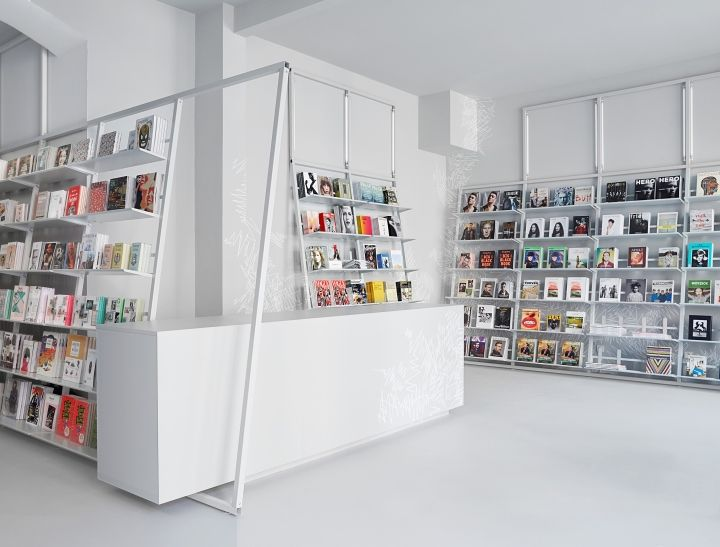 sodaBERLIN Bookshop by Designliga, Berlin \u2013 Germany Theke