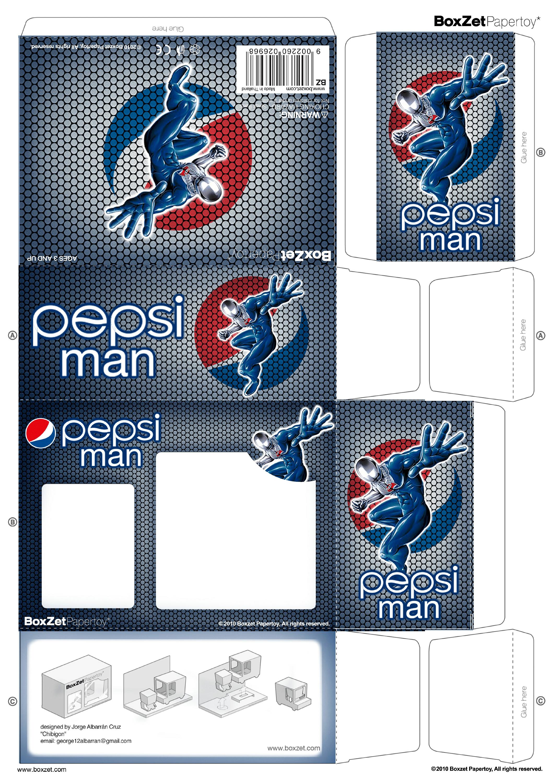 Papertoy Pepsi Man Boxzet 1 Paper Toys Pepsi Man Paper