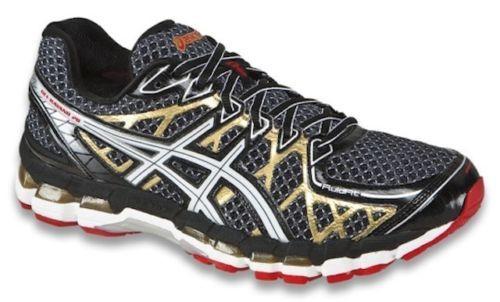 specialförsäljning halv av tidlös design Asics Gel Kayano 20 Black White Gold Men's Running Shoes BNIB ...