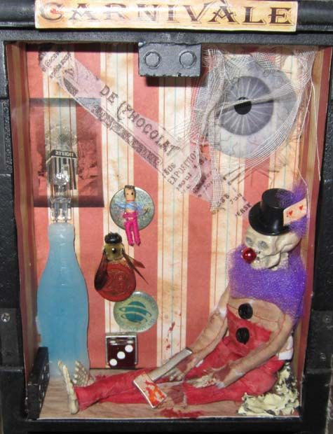 alTeReD aRt CARNIVALE CaBiNet OOak by SauvageRavenCreation on Etsy, $28.00