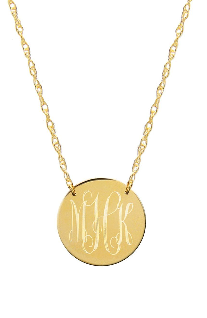 Jane Basch Designs Mini Monogram Disc