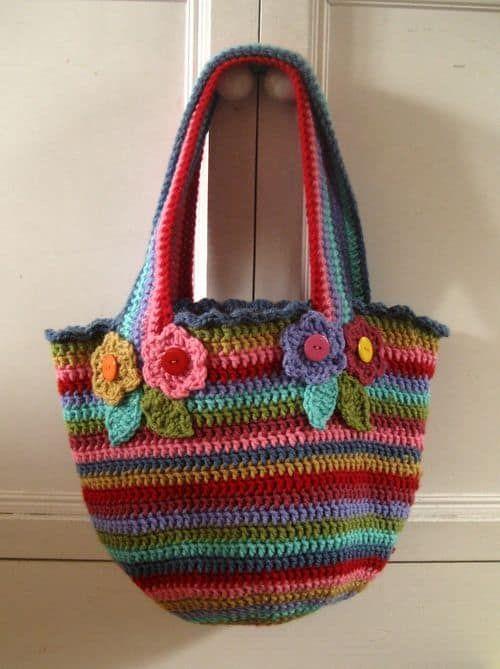 Striped Crochet Bag Pattern Is A Stunner Crochet Inspiration