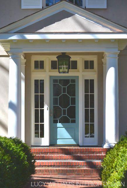 Front Door With Style Exterior Entryway Nice Colors Blue Door