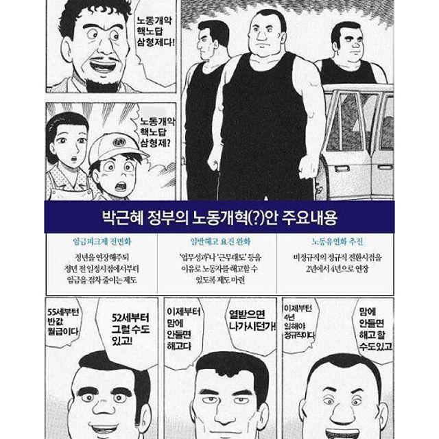 박근혜정부 노동계혁 번역기