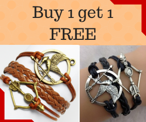 FREE HUNGER GAMES JEWELRY SPECIAL - Buy One bracelet and get one FREE