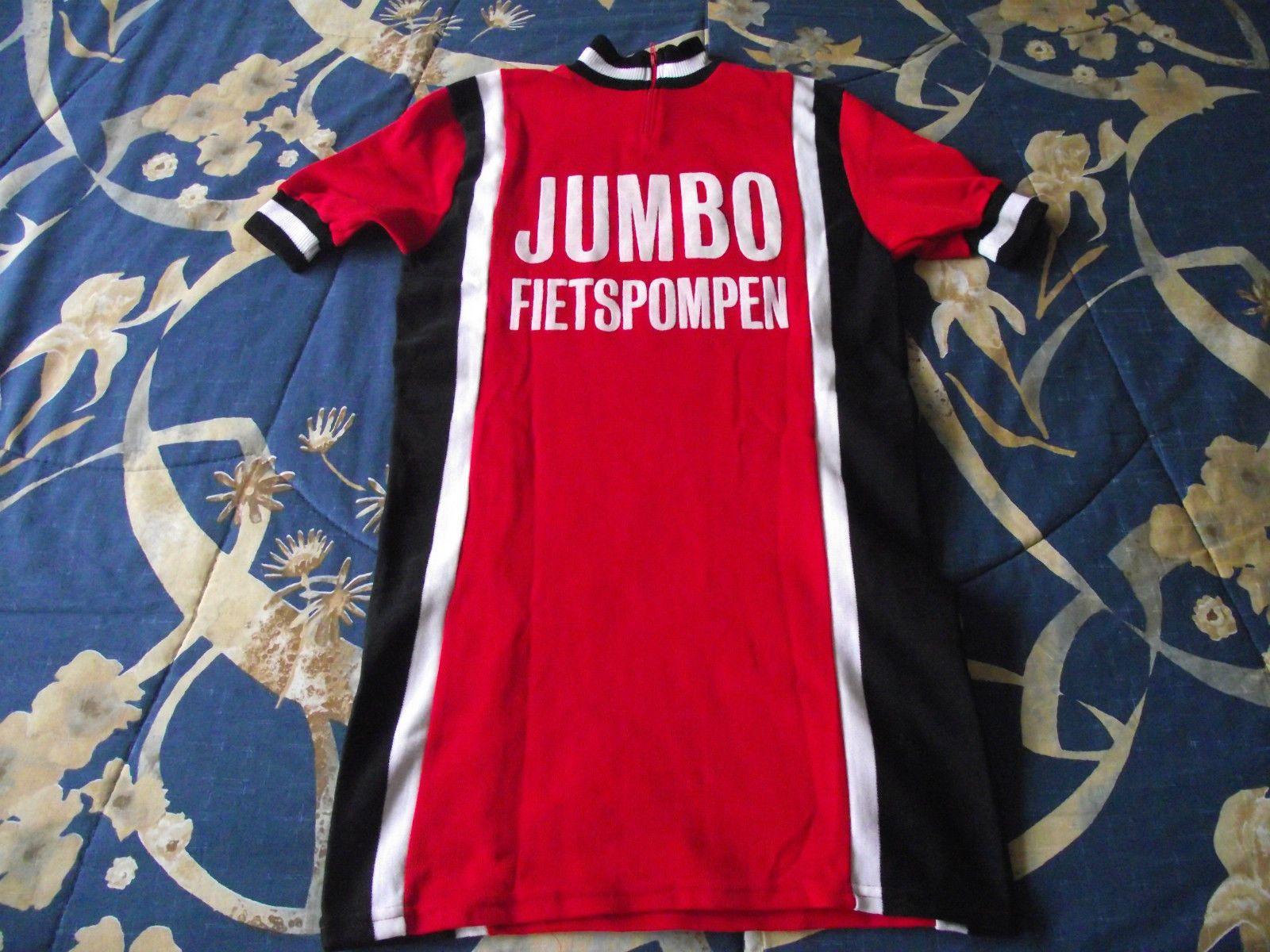 02ff0287c Vintage Enspo sportswear Jumbo Fietspompen Acrylic Cycling Jersey sz ...