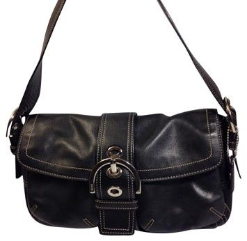 e50b95057e95c 9434 Soho Buckle Shoulder Black Leather Hobo Bag