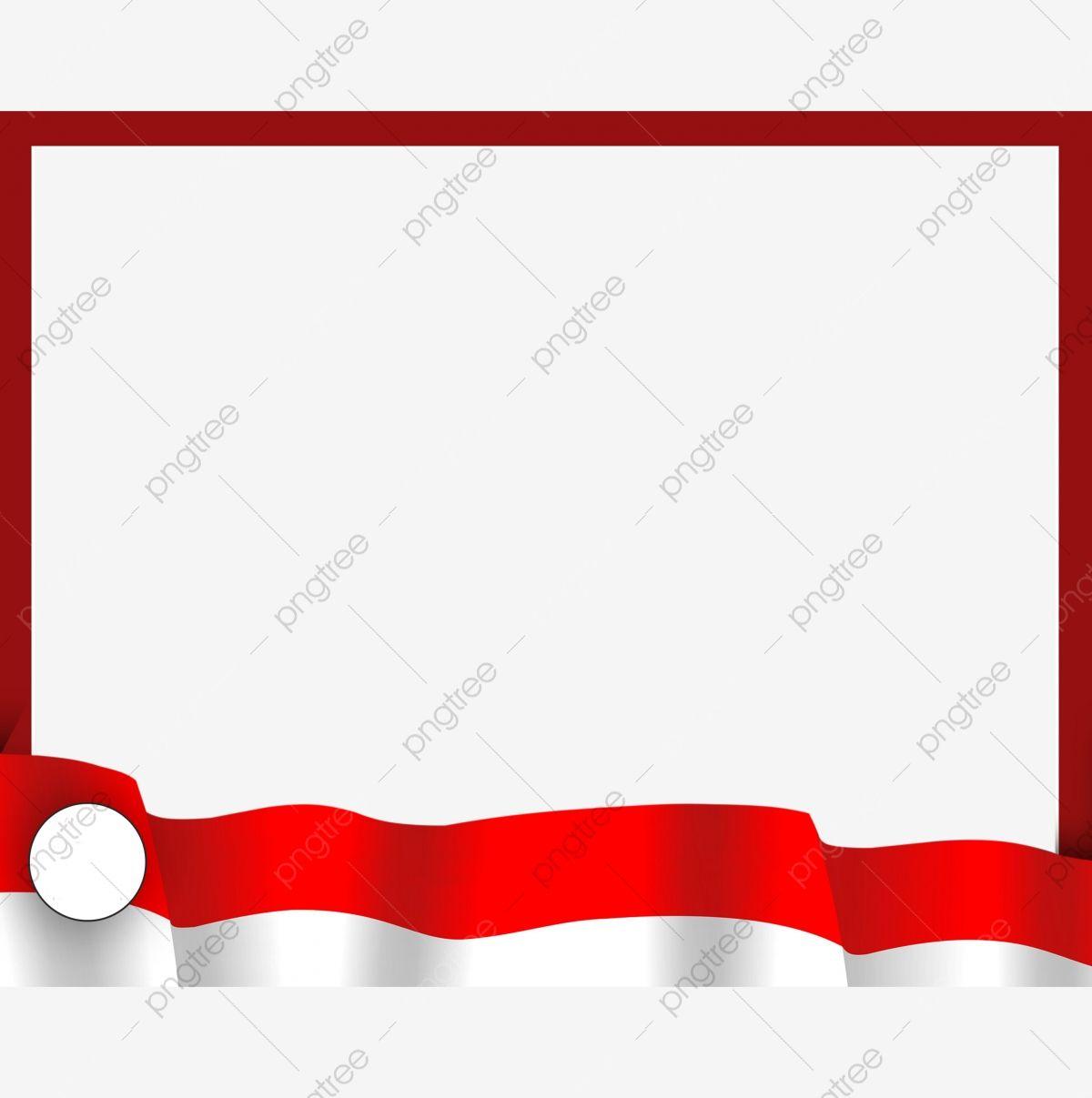 Gambar Bingkai Magin Sederhana Bendera Indonesia Bingkai Bendera Indonesia Xami Magine Png Dan Psd Untuk Muat Turun Percuma Geometric Pattern Background Frame Border Design Badge Design
