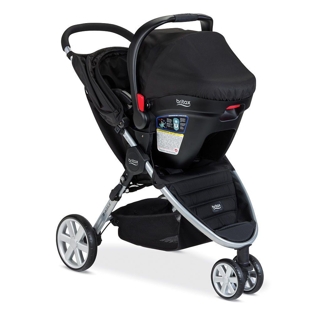 Britax B Agile 35 Travel System Stroller Black Travel Systems For Baby Jogging Stroller Travel System Baby Strollers Travel System