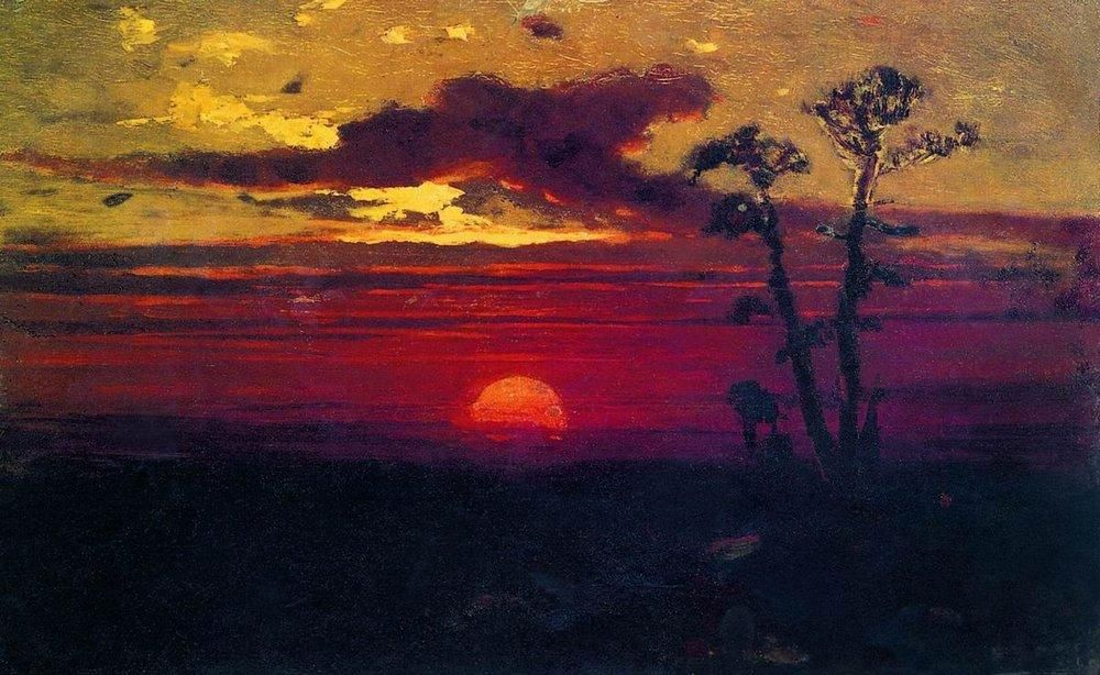 Sunset by Arkhip Kuindzhi (1842 1910), Ukraine/Russia