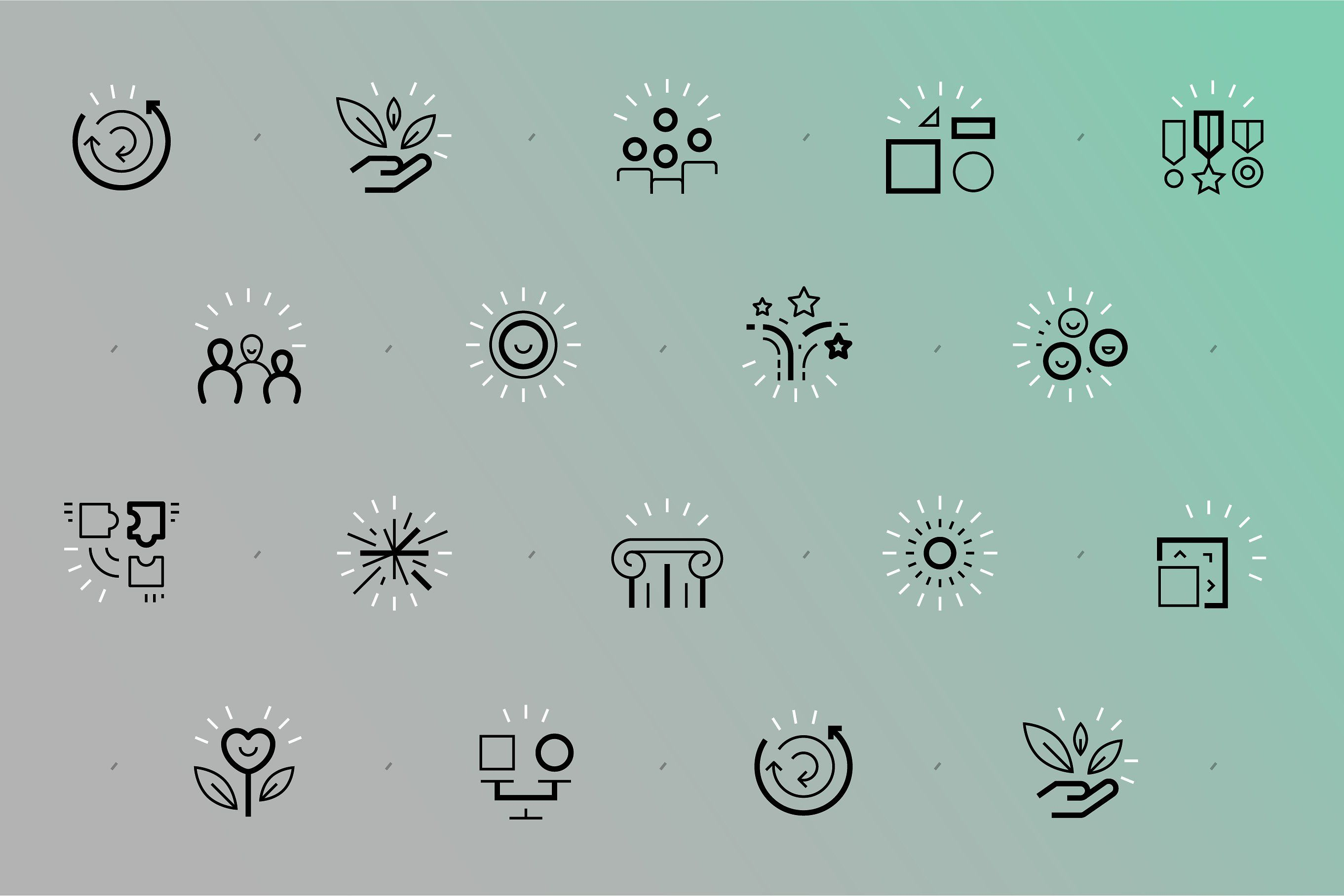 Business Value Icons Business Icon Business Card Design Inspiration Human Logo Inspiration