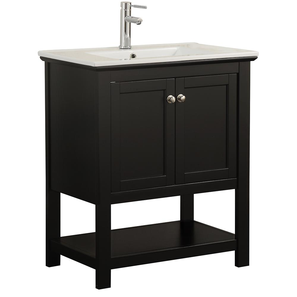 Fresca Bradford 30 In W Traditional Bathroom Vanity In Black With