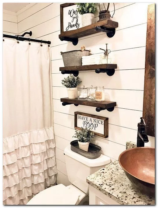 23 Best Farmhouse Bathroom Decor Ideas
