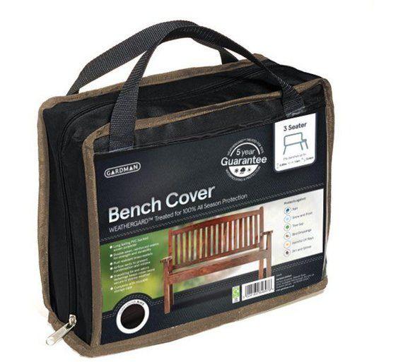 Buy Gardman 3 Seater Bench Cover - Black at Argos.co.uk ...
