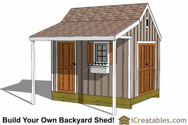 10x12 Cape Cod New England Shed Plan Heel Veel Tuinhuisjes