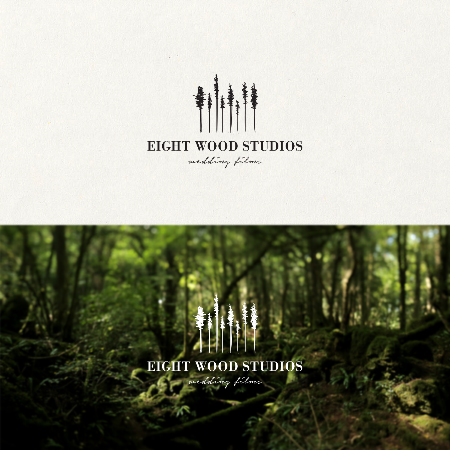 A Simple Sophisticated Bespoke Logo For Wedding Film Company Eight Trees To Represent The Name Of