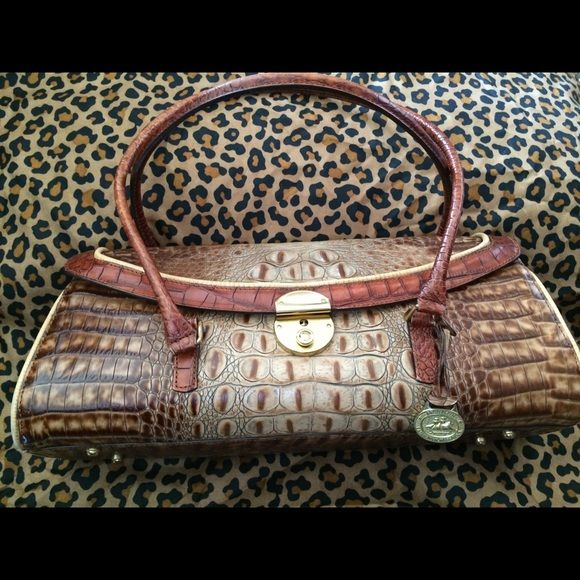 "Authentic Brahmin Purse ""Authentic"" Vintage Brahmin purse in excellent condition with the original key to purse lock! Brahmin Bags"