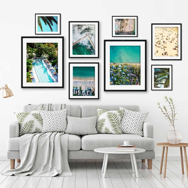Beach Art Print Set Coastal Gallery Wall Framed Art Available Now At Abstracthouse Com Ar Gallery Wall Living Room Wall Art Prints Living Room Gallery Wall