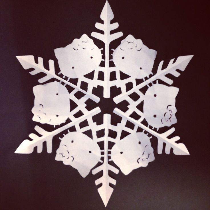 hello kitty snowflake template - Google Search silhouette - snowflake template