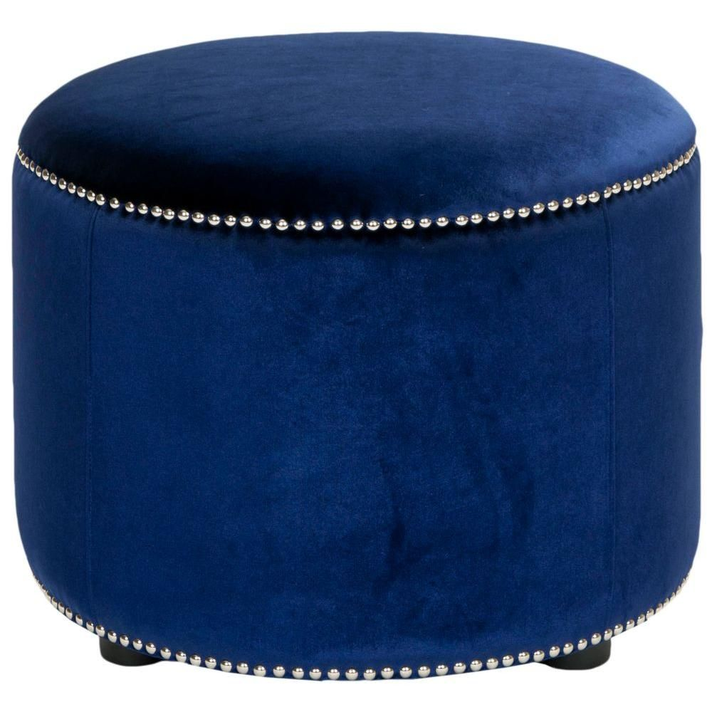 Hogan Royal Blue Accent Ottoman | Vanity stool, Stools and Vanities