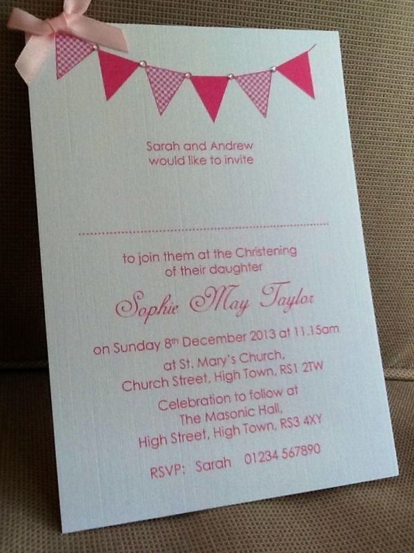 10 Personalised Christening//Baptism//Naming day Invitations Boy//Girl Envelopes
