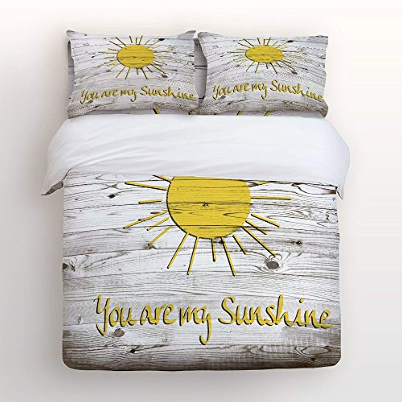 Vandarllin You Are My Sunshine 4 Piece Bedding Sets Queen Size